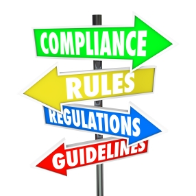 Compliance Rules Regulations Guidelines Arrow Signs